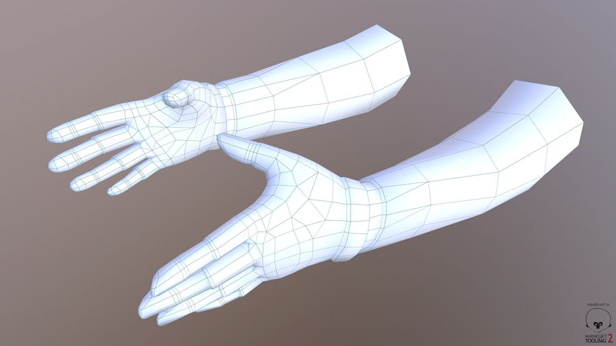 FPS arm hand royalty-free 3d model - Preview no. 10