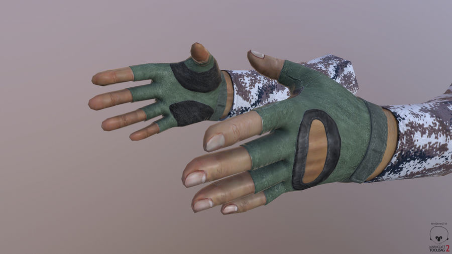 FPS arm hand royalty-free 3d model - Preview no. 9