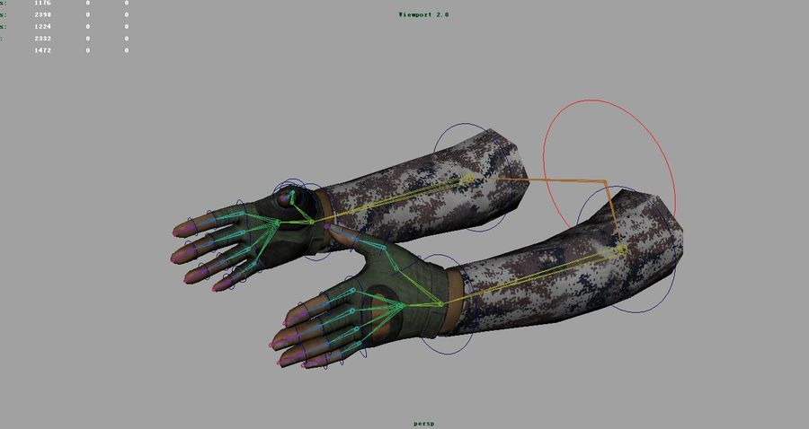 FPS arm hand royalty-free 3d model - Preview no. 12