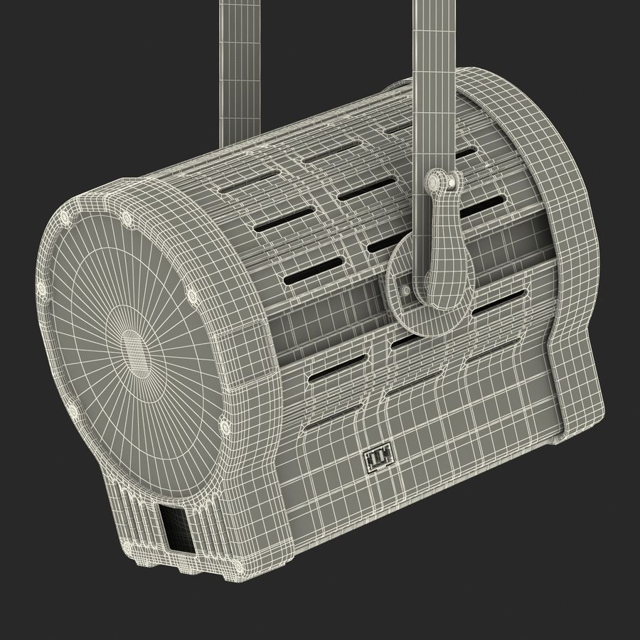 Studio Fresnel Light Generic 2 3D Model royalty-free 3d model - Preview no. 43