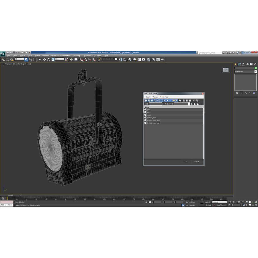 Studio Fresnel Light Generic 2 3D Model royalty-free 3d model - Preview no. 36
