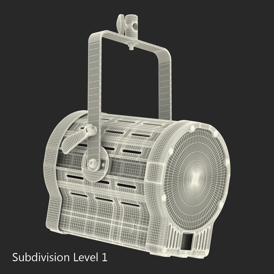 Studio Fresnel Light Generic 2 3D Model royalty-free 3d model - Preview no. 28