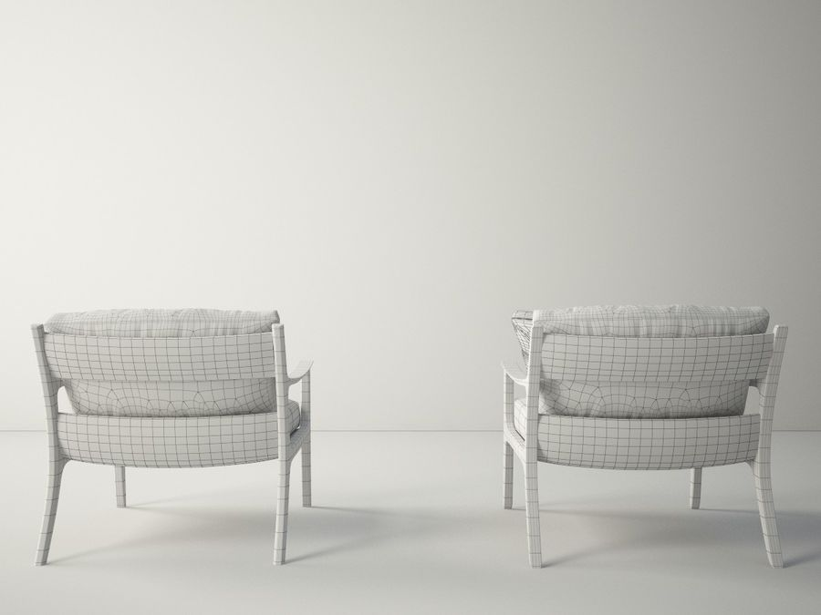 Custom Design Armchair royalty-free 3d model - Preview no. 8