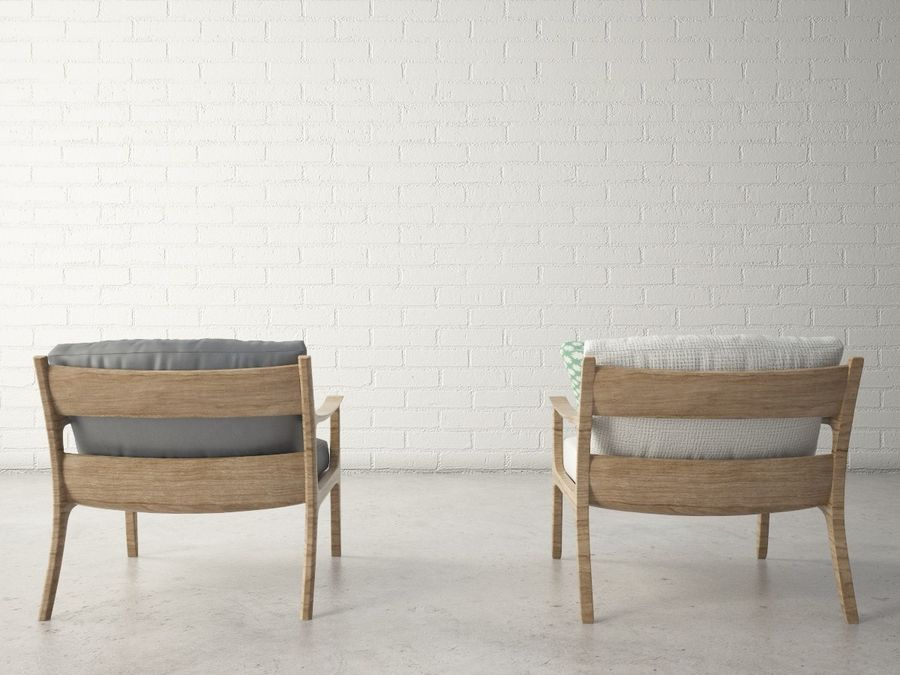 Custom Design Armchair royalty-free 3d model - Preview no. 4
