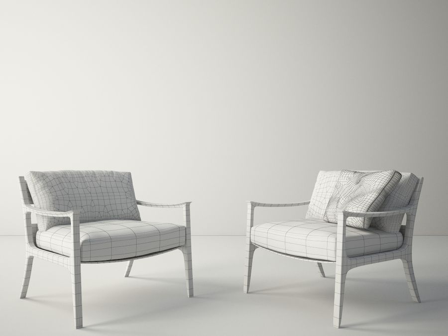 Custom Design Armchair royalty-free 3d model - Preview no. 5
