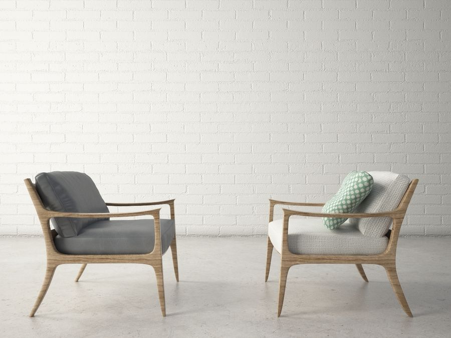 Custom Design Armchair royalty-free 3d model - Preview no. 2