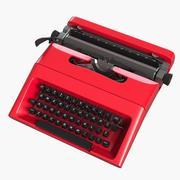 打字机 3d model
