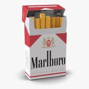 Pacchetto di sigarette aperte Marlboro 3d model