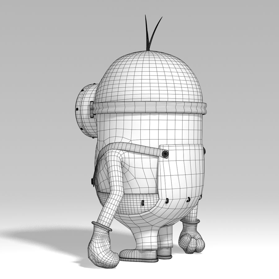 minion   rigged royalty-free 3d model - Preview no. 8