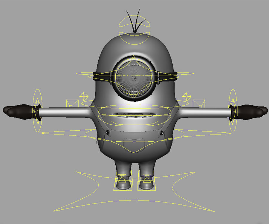 minion   rigged royalty-free 3d model - Preview no. 11