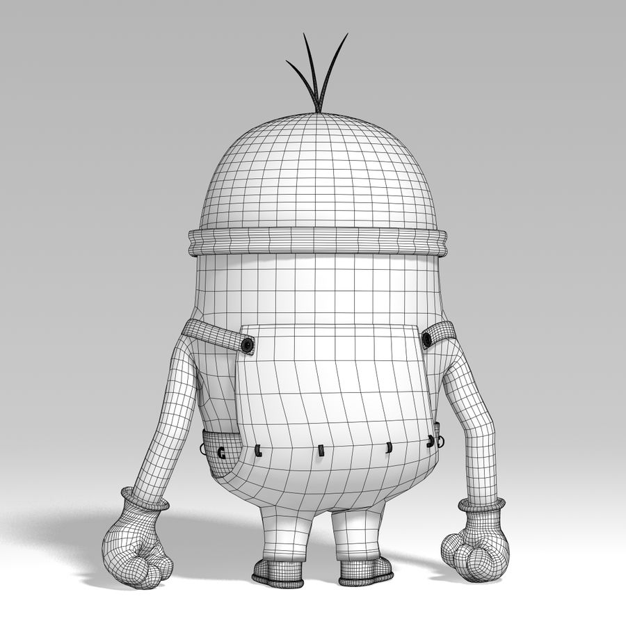 minion   rigged royalty-free 3d model - Preview no. 9