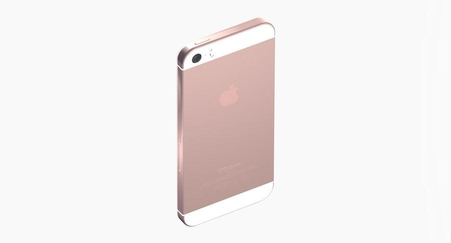 iPhone SE Rose Gold royalty-free 3d model - Preview no. 5
