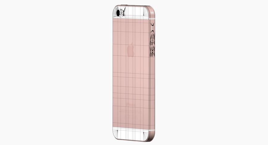 iPhone SE Rose Gold royalty-free 3d model - Preview no. 9
