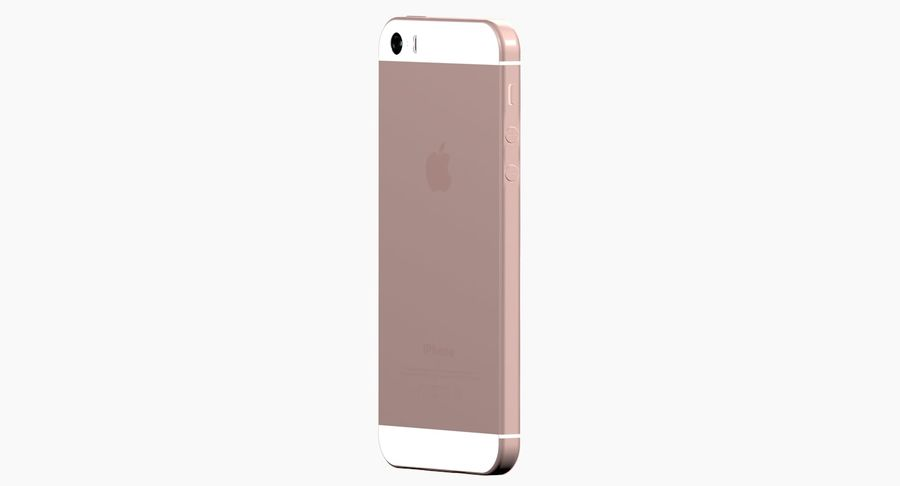 iPhone SE Rose Gold royalty-free 3d model - Preview no. 3