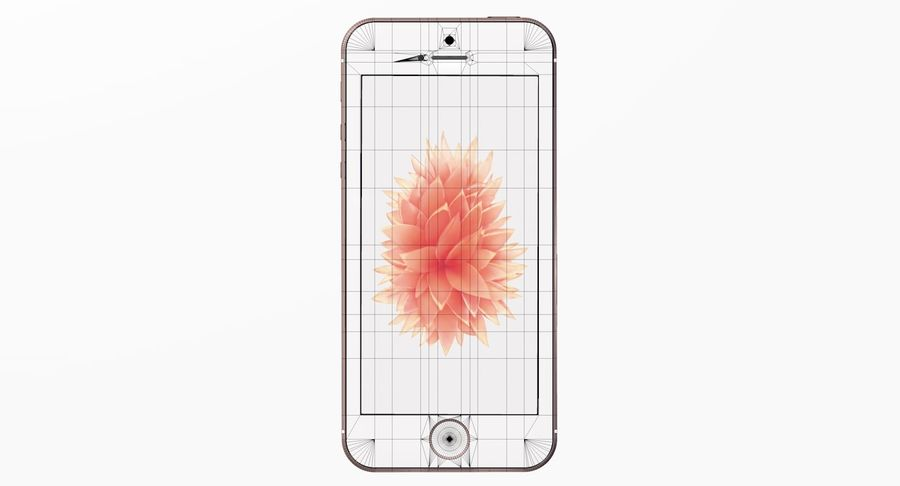 iPhone SE Rose Gold royalty-free 3d model - Preview no. 7