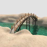 Bro på floden 3d model