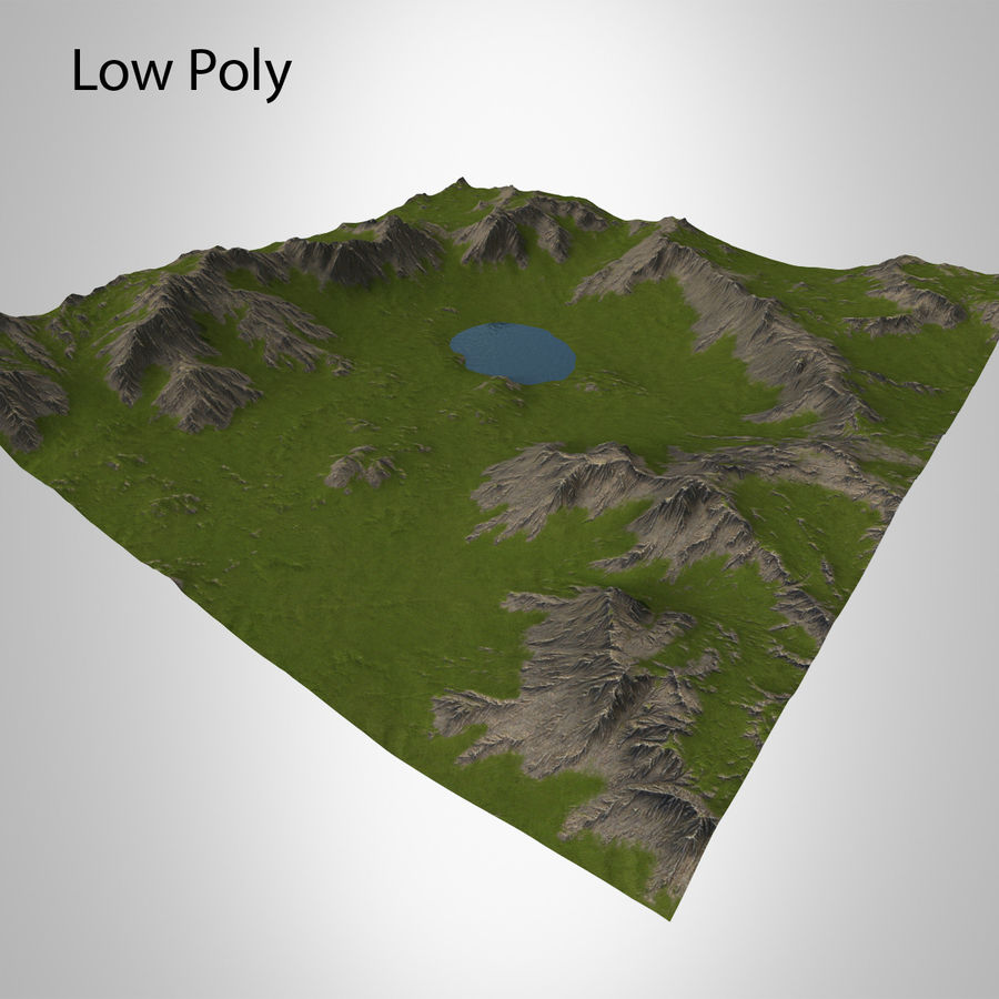 Mountain Landscape royalty-free 3d model - Preview no. 17