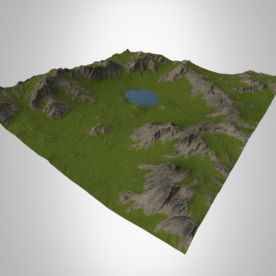 Berglandschap royalty-free 3d model - Preview no. 3