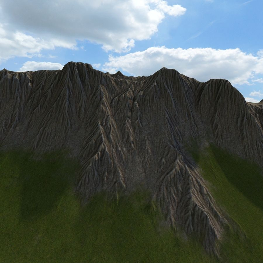 Berglandschap royalty-free 3d model - Preview no. 12