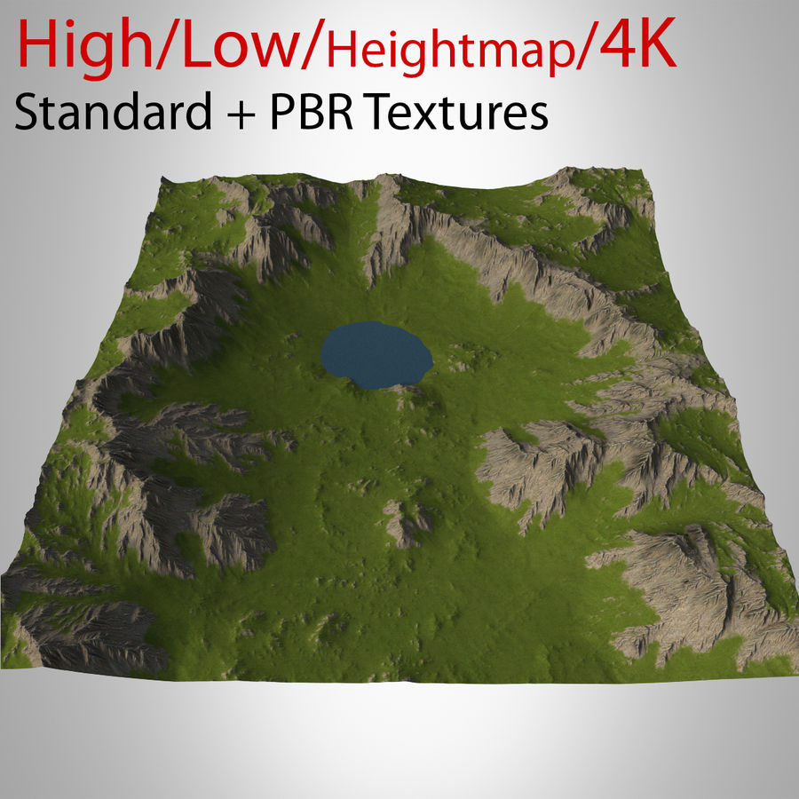 Berglandschap royalty-free 3d model - Preview no. 1