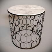 Tavolino Parker in marmo 3d model