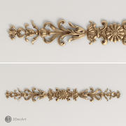Carved scroll 3D for CNC | Ng_031 3d model