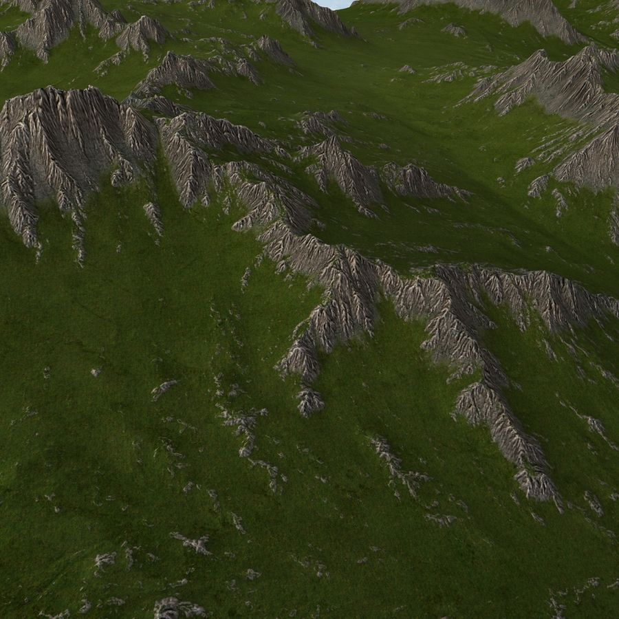 Mountain Landscape royalty-free 3d model - Preview no. 15