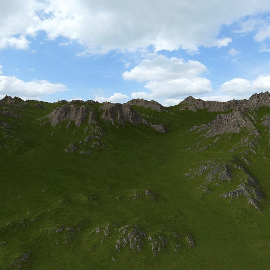 Mountain Landscape royalty-free 3d model - Preview no. 5