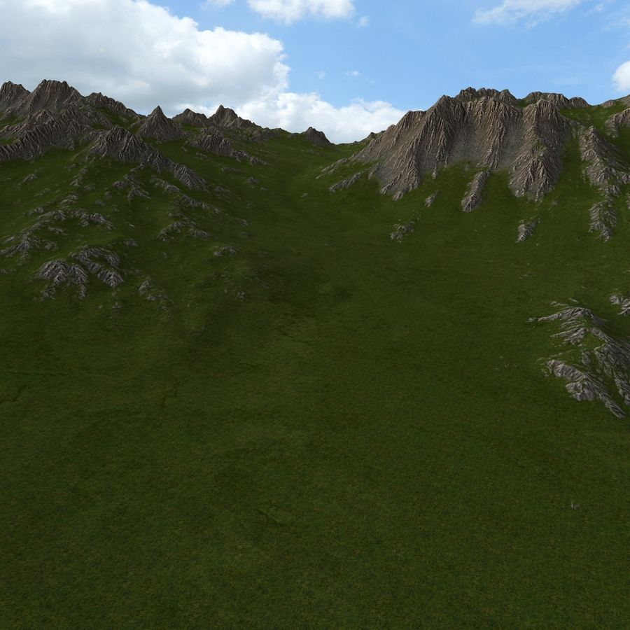 Mountain Landscape royalty-free 3d model - Preview no. 20