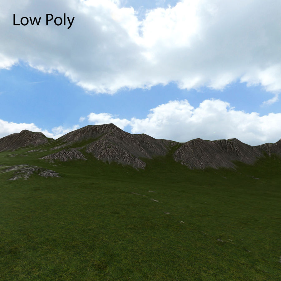 Mountain Landscape royalty-free 3d model - Preview no. 34