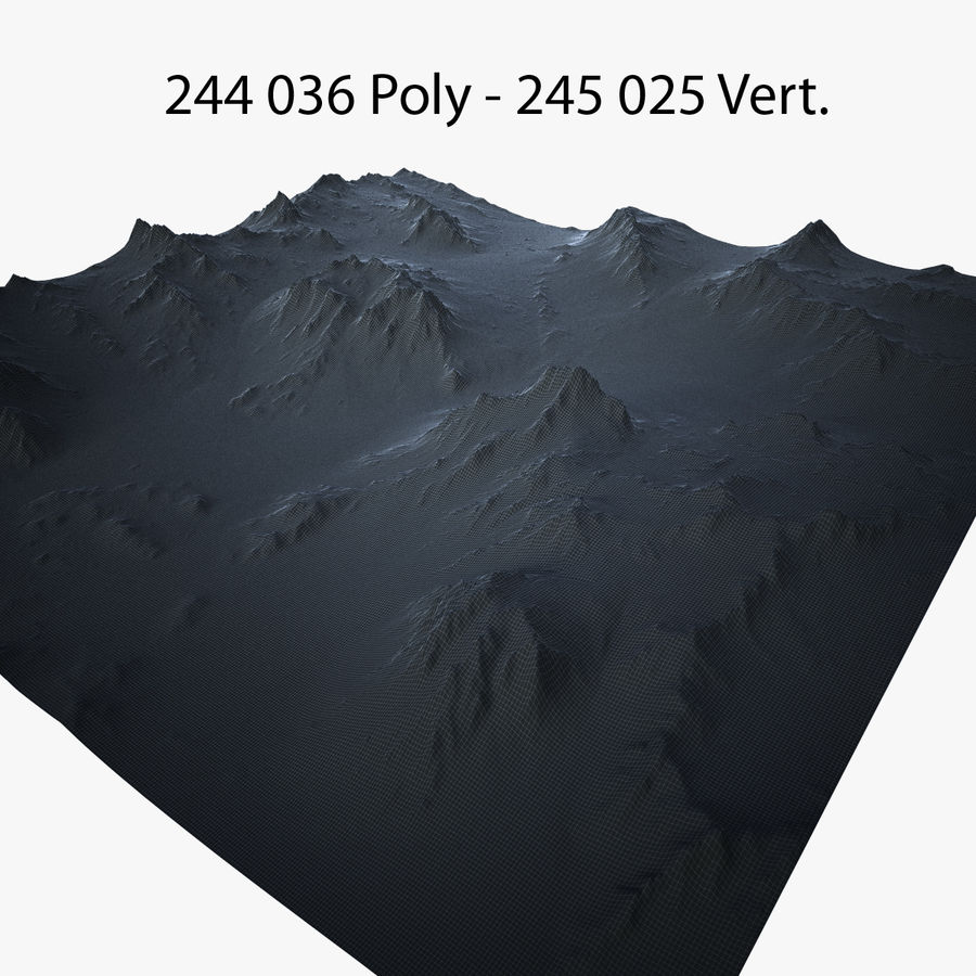 Mountain Landscape royalty-free 3d model - Preview no. 38