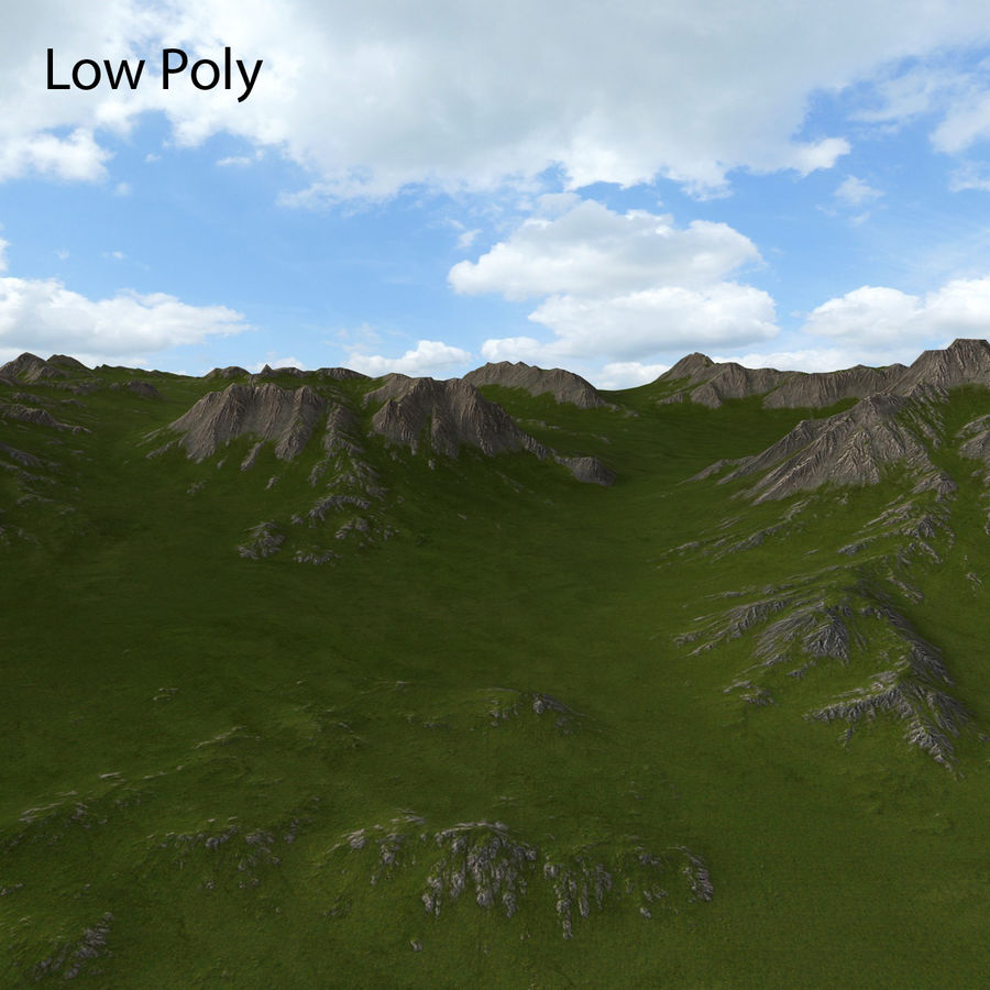 Mountain Landscape royalty-free 3d model - Preview no. 26