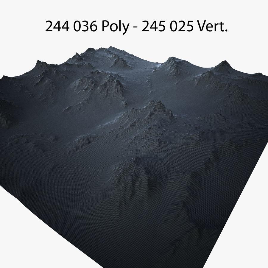 Mountain Landscape royalty-free 3d model - Preview no. 38