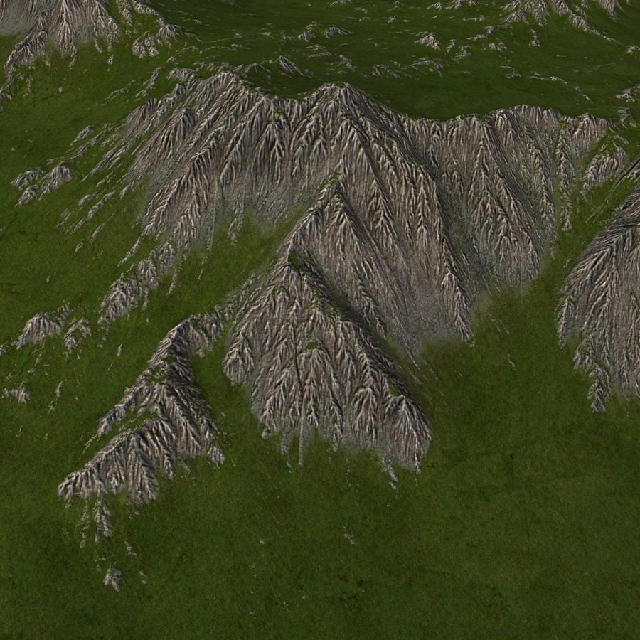 Mountain Landscape royalty-free 3d model - Preview no. 14