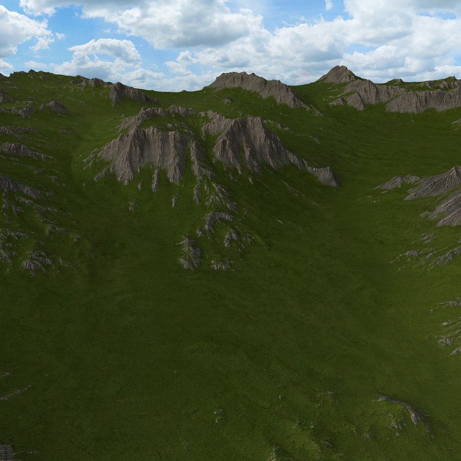 Mountain Landscape royalty-free 3d model - Preview no. 8