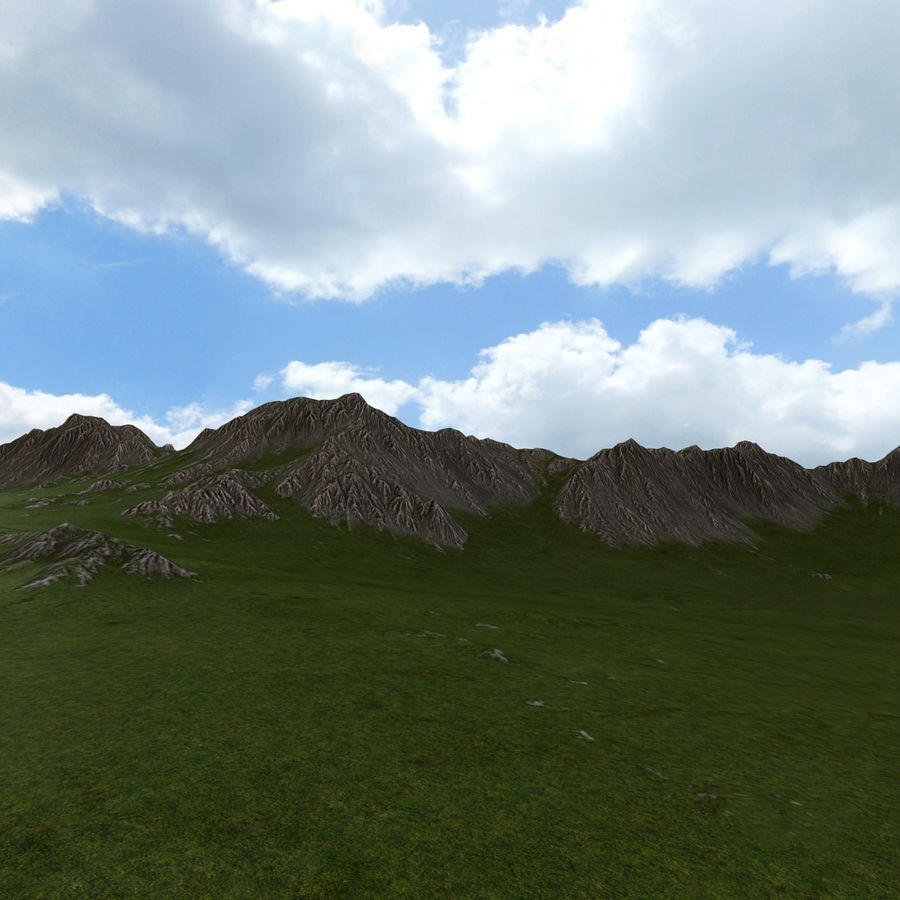 Mountain Landscape royalty-free 3d model - Preview no. 9