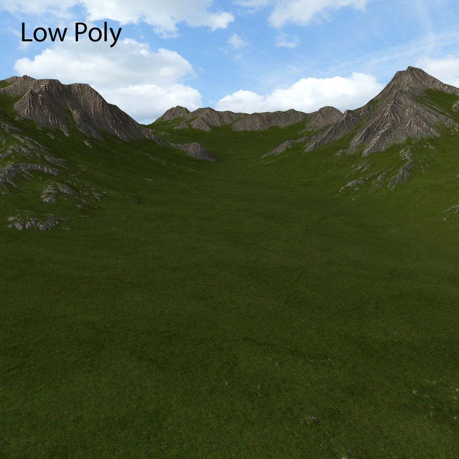 Mountain Landscape royalty-free 3d model - Preview no. 37