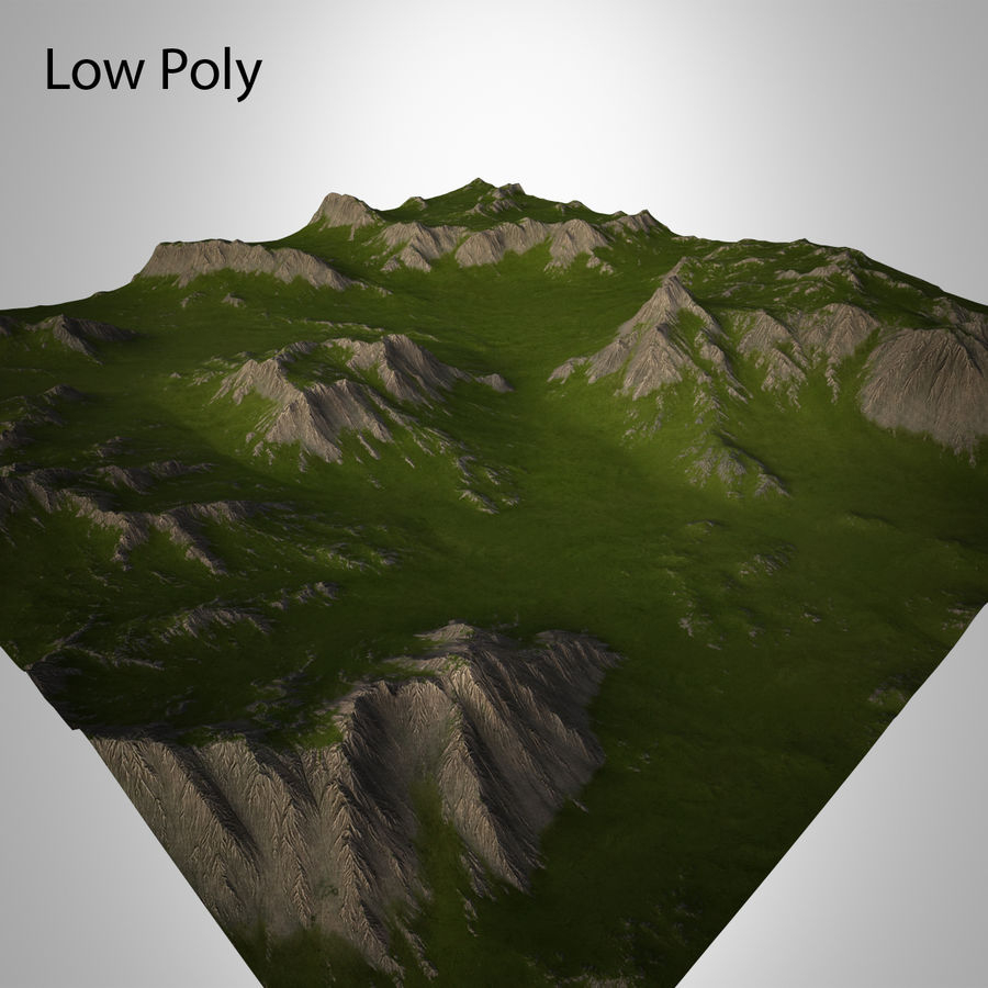 Mountain Landscape royalty-free 3d model - Preview no. 21