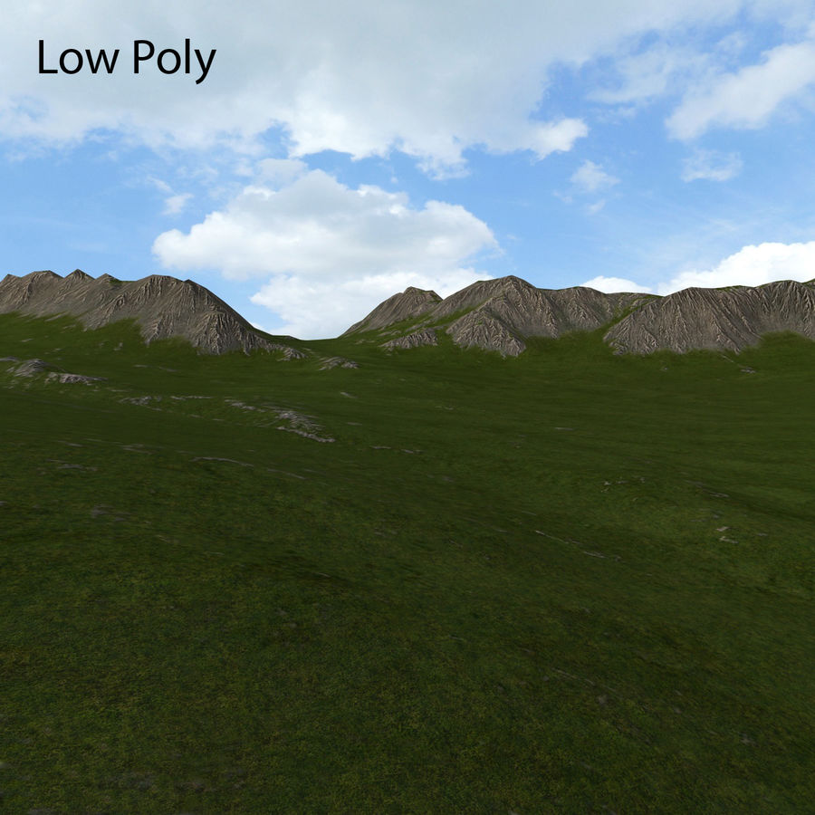 Mountain Landscape royalty-free 3d model - Preview no. 32