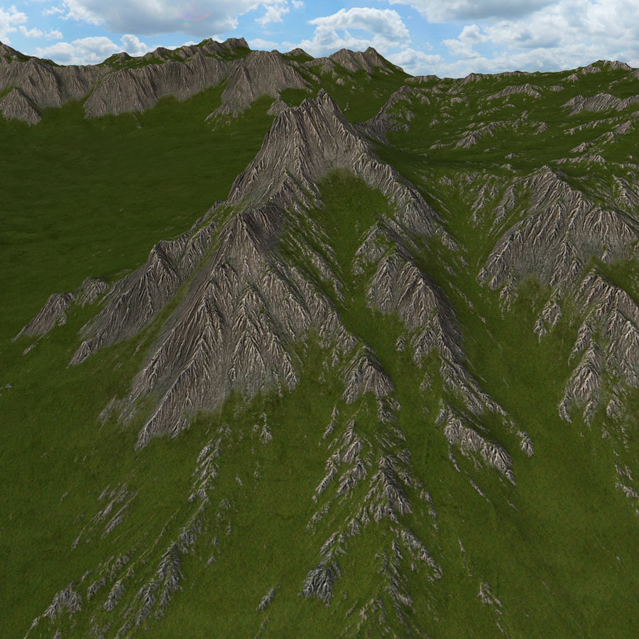 Mountain Landscape royalty-free 3d model - Preview no. 7