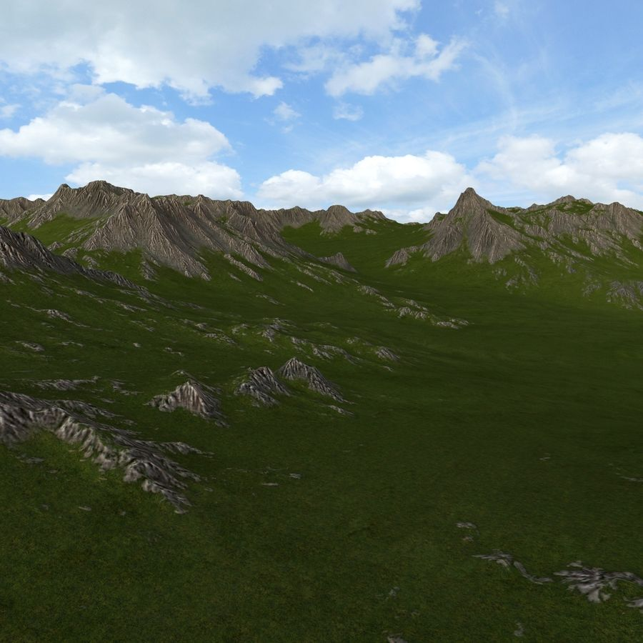 Mountain Landscape royalty-free 3d model - Preview no. 19