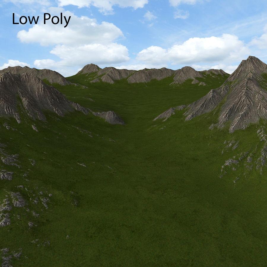 Mountain Landscape royalty-free 3d model - Preview no. 28