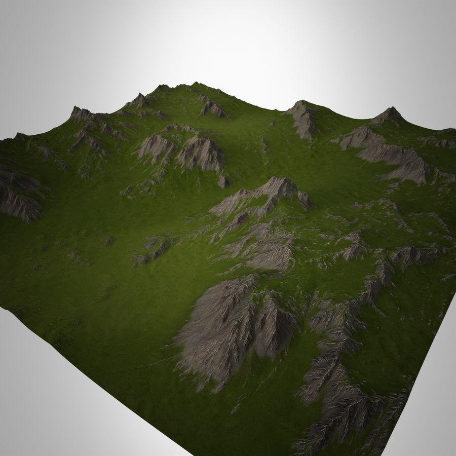 Mountain Landscape royalty-free 3d model - Preview no. 4