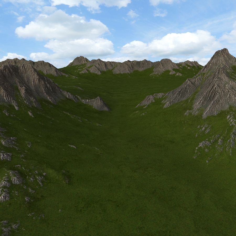 Mountain Landscape royalty-free 3d model - Preview no. 18