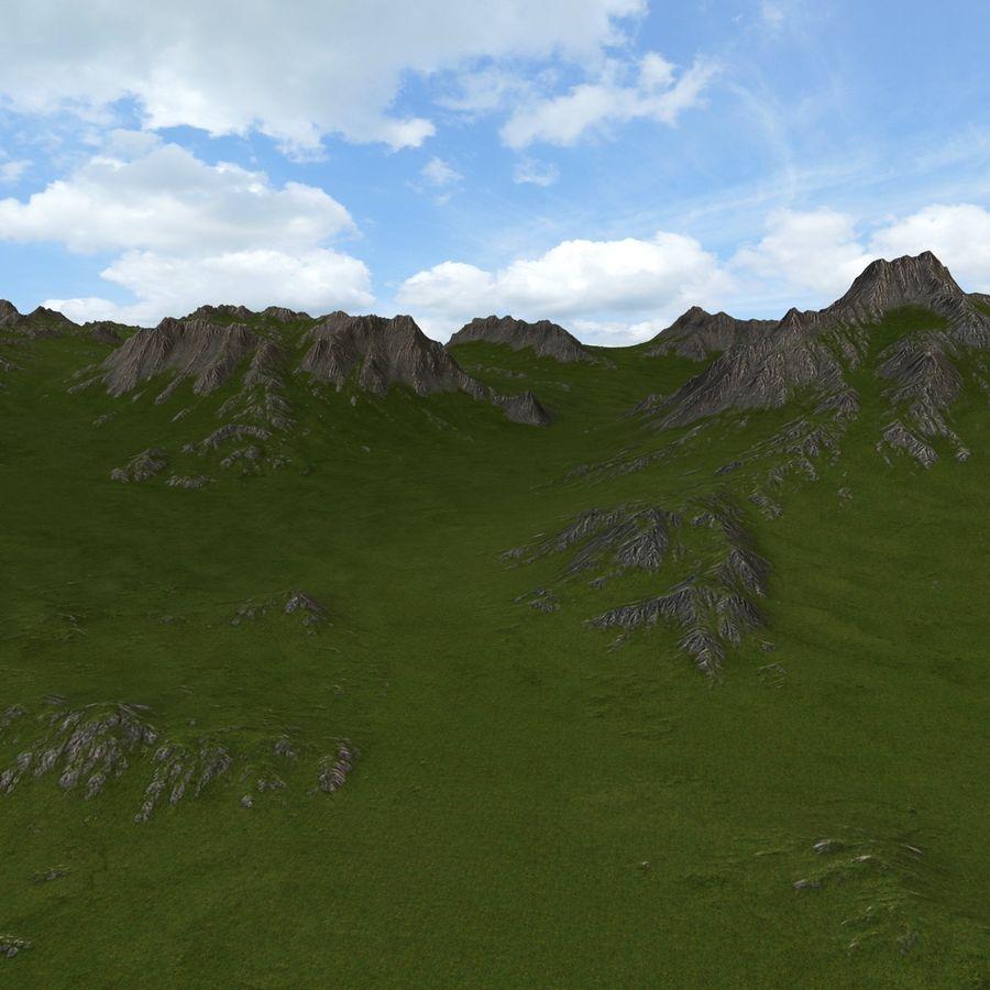 Mountain Landscape royalty-free 3d model - Preview no. 17