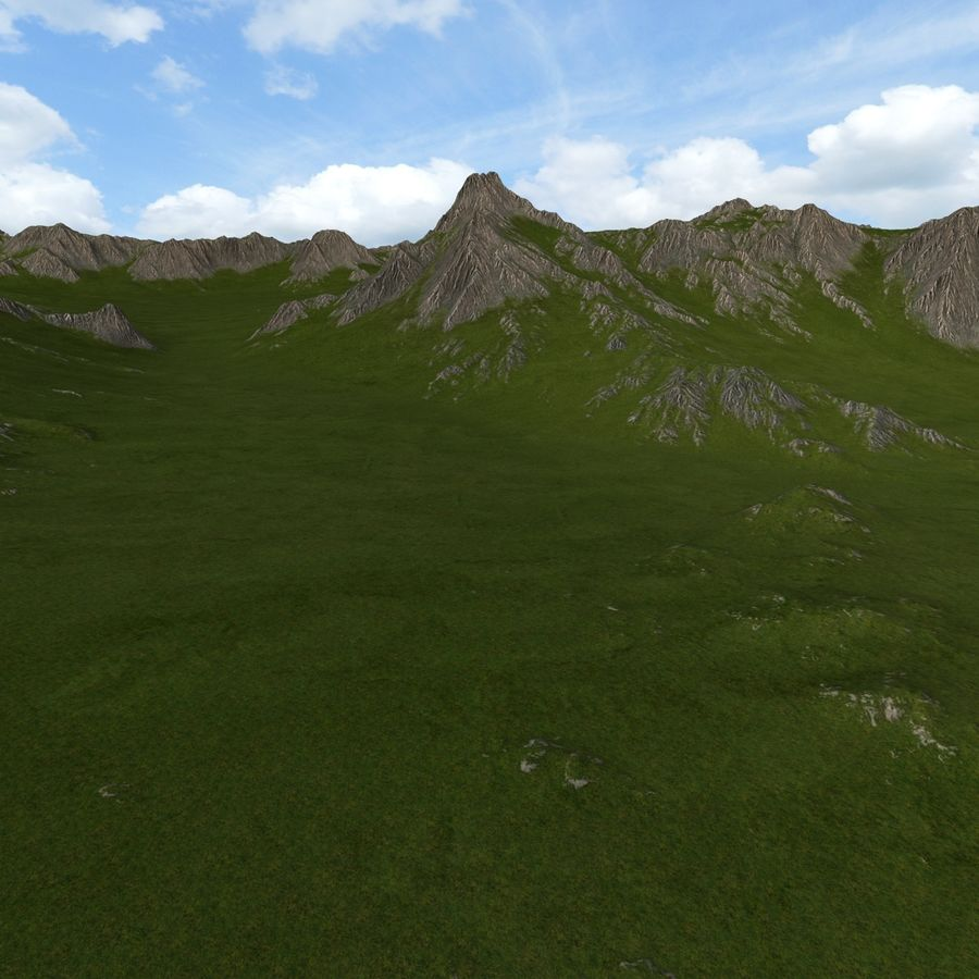 Mountain Landscape royalty-free 3d model - Preview no. 10