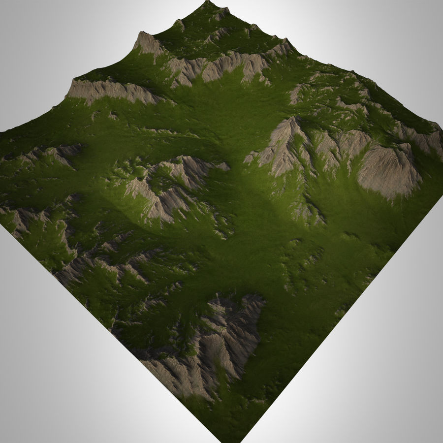 Mountain Landscape royalty-free 3d model - Preview no. 3