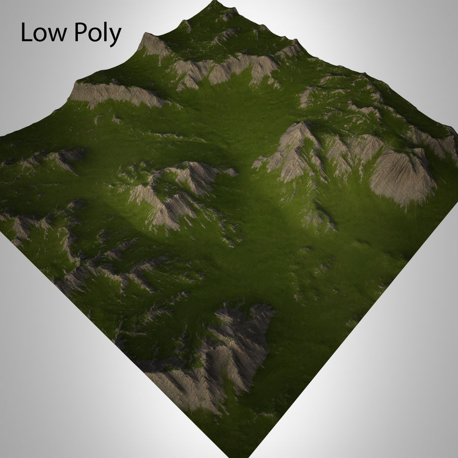 Mountain Landscape royalty-free 3d model - Preview no. 23