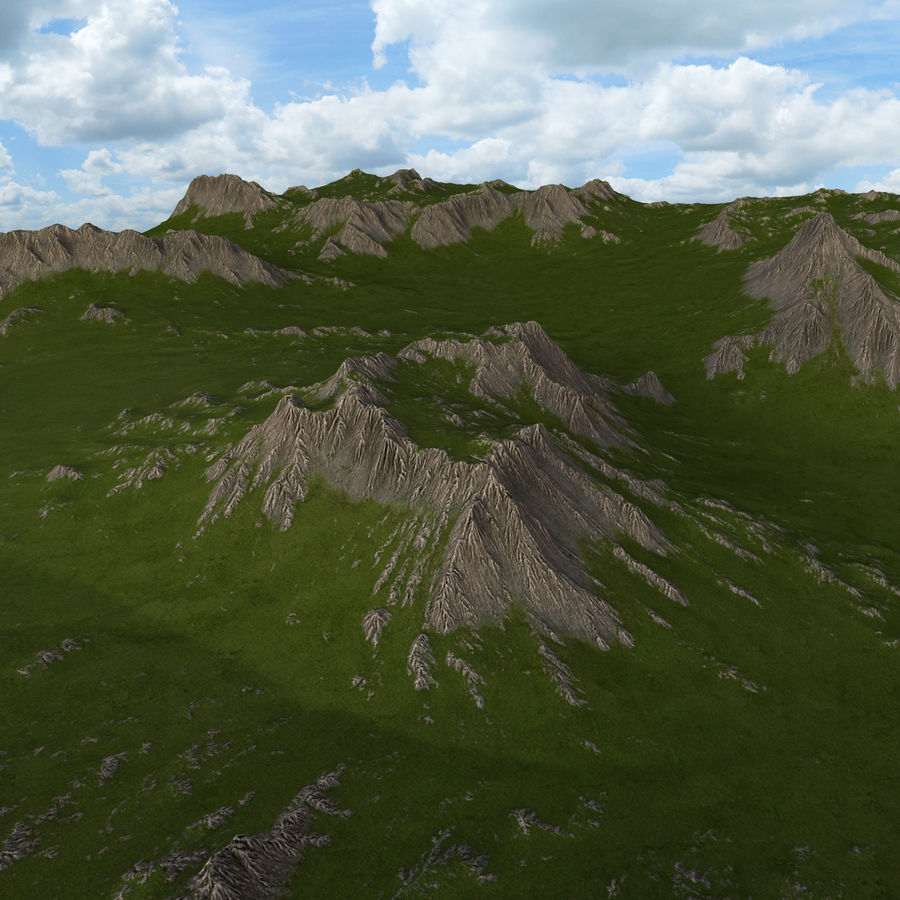 Mountain Landscape royalty-free 3d model - Preview no. 16