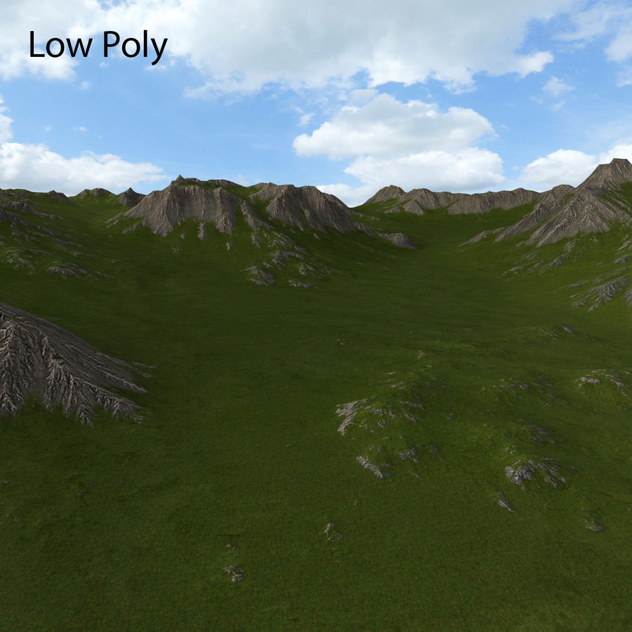 Mountain Landscape royalty-free 3d model - Preview no. 27